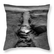 Horseshoes Beach  Black And White Throw Pillow