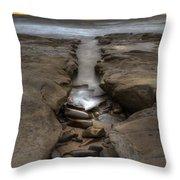 Horseshoes Beach Tidepools Throw Pillow