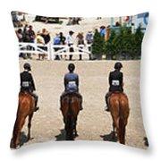Horseshow Pano Throw Pillow