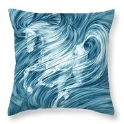 Horsessence - Colorized Fantasy Dream Horse Print Throw Pillow
