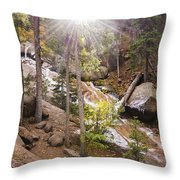 Horsethief Falls Sunburst - Cripple Creek Colorado Throw Pillow