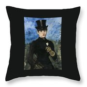 Horsewoman Throw Pillow