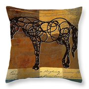 Horso - 70s01br02t Throw Pillow by Variance Collections