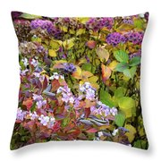 Hortensia Flowers Throw Pillow