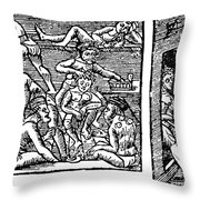 Hospice, 16th Century Throw Pillow