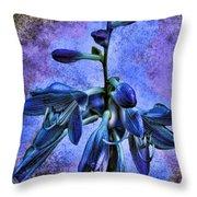 Hosta Blossom Throw Pillow