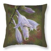 Hosta Flowers Throw Pillow