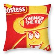Hostess Twinkie The Kid Throw Pillow by Tony Rubino