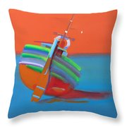 Hot Afternoon Throw Pillow