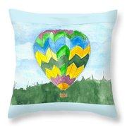 Hot Air Balloon 01 Throw Pillow