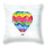 Hot Air Balloon 02 Throw Pillow