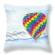 Hot Air Balloon 04 Throw Pillow
