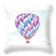 Hot Air Balloon 06 Throw Pillow