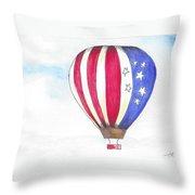 Hot Air Balloon 07 Throw Pillow