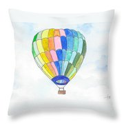 Hot Air Balloon 08 Throw Pillow