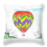Hot Air Balloon 10 Throw Pillow