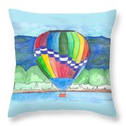 Hot Air Balloon 11 Throw Pillow