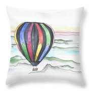 Hot Air Balloon 12 Throw Pillow