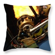 Hot Air Balloon Burner Throw Pillow