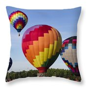 Hot Air Balloon Festival In Decatur Alabama  Throw Pillow