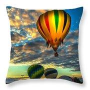 Hot Air Balloon Lift Off Throw Pillow