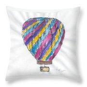 Hot Air Balloon Misc 02 Throw Pillow