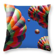 Hot Air Balloon Panoramic Throw Pillow by Edward Fielding
