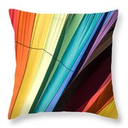 Hot Air Balloon Rainbow Throw Pillow