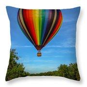 Hot Air Balloon Woodstock Vermont Throw Pillow