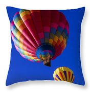 Hot Air Ballooning Together Throw Pillow
