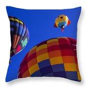 Hot Air Balloons Launch Throw Pillow