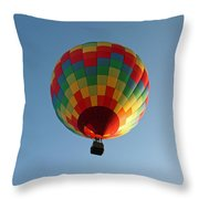 Hot-air Balloons Over Paradise - Immokalee 2014  Number 2  Throw Pillow