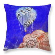 Hot Air Balloons Photo Art 04 Throw Pillow