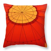 Hot Air Balloon At Dawn Throw Pillow