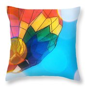 Hot Air Bokeh Throw Pillow