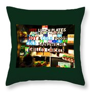 Hot And Cold Foods Throw Pillow