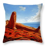 Hot As The Sun Throw Pillow