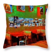 Hot Bar-glow Throw Pillow