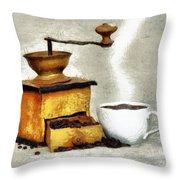 Hot Black Coffee Throw Pillow