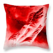 Hot-blooded Hottie On A Sexual Journey Throw Pillow