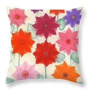 Hot Bloom Throw Pillow