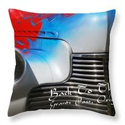 Hot Chevy Poster And Postcard Throw Pillow