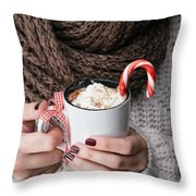 Hot Chocolate Throw Pillow by Viktor Pravdica