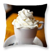 Hot Chocolate With Creme Chantilly Throw Pillow