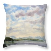 Hot Day In The Rockies Throw Pillow