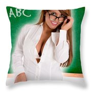 Hot For Teacher Throw Pillow