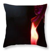 Hot Girl Throw Pillow