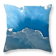Hot Italian Clouds Throw Pillow