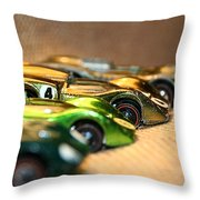 Hot Line Up Throw Pillow