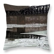 Hot Metal Bridge Throw Pillow
